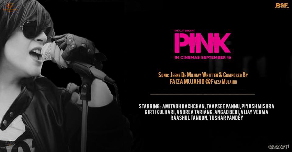 Faiza Mujahid Sings For Upcoming Bollywood The Film Pink